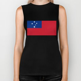 Samoan flag - Authentic version to scale and color Biker Tank