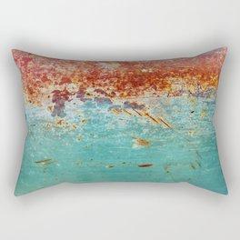 Teal Rust Rectangular Pillow