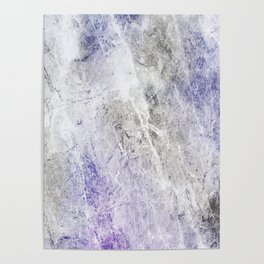 Blue Gray Abstract Poster