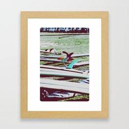 Vintage Malibu Longboards Framed Art Print