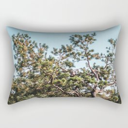 She daydreamed of surreal worlds and they vanished into matter. Rectangular Pillow
