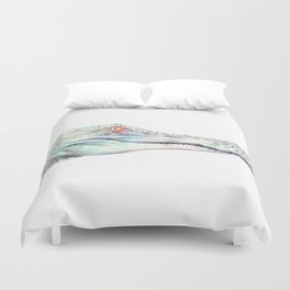Albino Alligator Duvet Cover