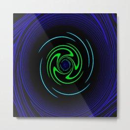 Blue Wheel Metal Print