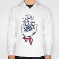 occult Hoodies featuring Occult Hand by Adam Gillespie Artwork