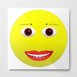 Smiley Brown Eyes Metal Print