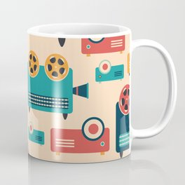 Retro Media Pattern 02 Coffee Mug