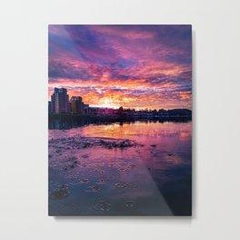 Purple Flood Metal Print