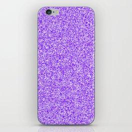 Spacey Melange - White and Indigo Violet iPhone Skin