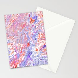 Red whit and blue Stationery Cards