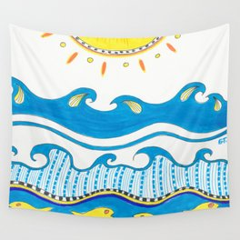 Summer Time Ink Marker Art Wall Tapestry