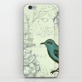 Collaged bird correspondence iPhone Skin