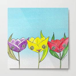 """Oro?"" Tulips Metal Print"