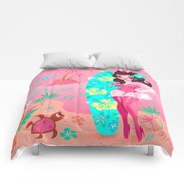 Hawaii Burlesque Festival Beach Bunny Comforters