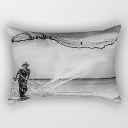 Casting the net Rectangular Pillow