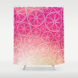Citrus slices (pink grapefruit) Shower Curtain