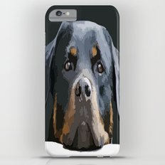 Rottweiler Portrait Vector Slim Case iPhone 6 Plus