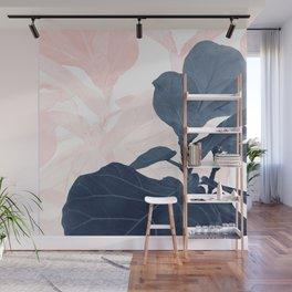 Blush Blue Fiddle Leaf Dream #1 #tropical #decor #art #society6 Wall Mural
