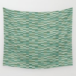 Vintage Lines Forest Green Wall Tapestry