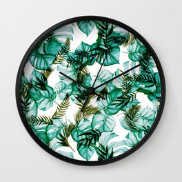 Palms and Leaves Wall Clock