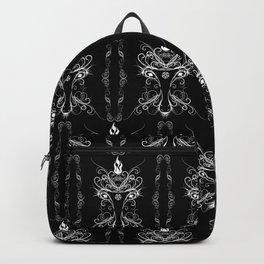Baphomet Damask Occult Goth Art Backpack