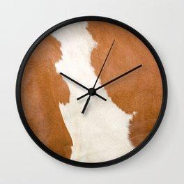 Brown Cowhide v3 Wall Clock