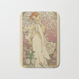 Camille by Alphonse Mucha Bath Mat