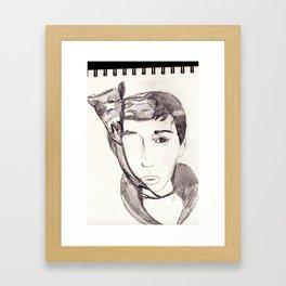 Lie a twister. Framed Art Print