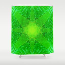 green star Shower Curtain