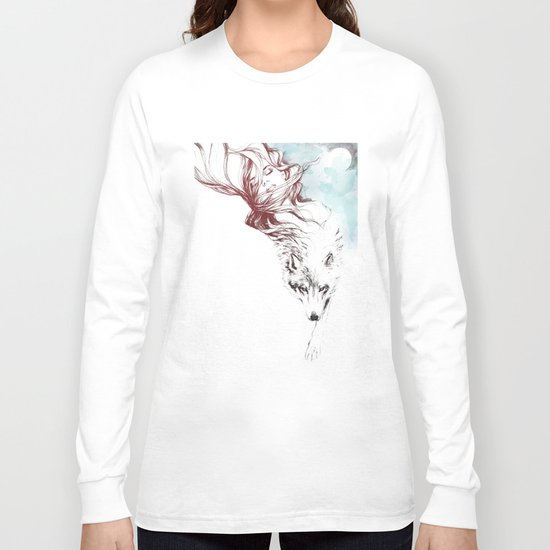 Dreaming about wolves Long Sleeve T-shirt