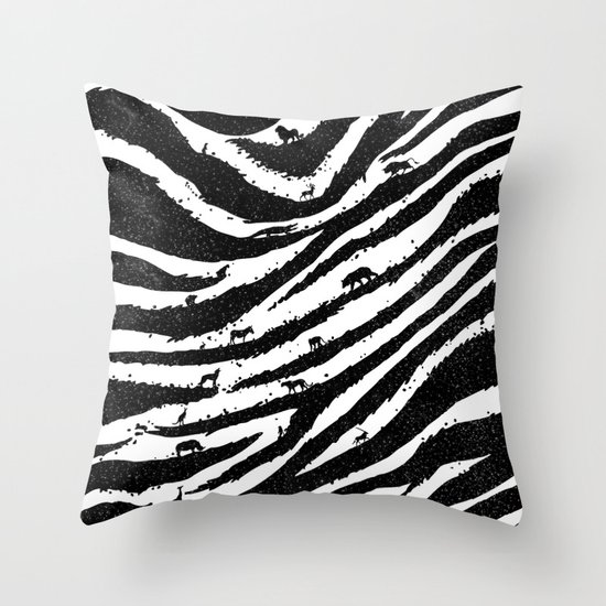Into The Wild Throw Pillow