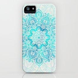 Turquoise Lace Mandala iPhone Case