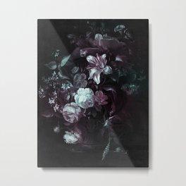 Flowers in a Vase - violet Metal Print