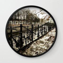 Bikes in Berlin Wall Clock