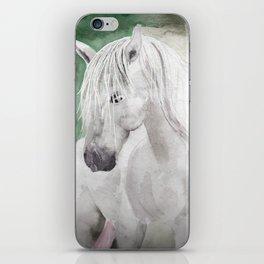 Cathy's white horse iPhone Skin