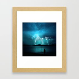 Storms Coming... Framed Art Print