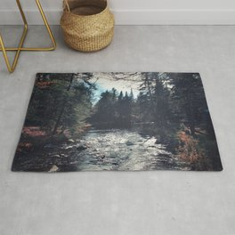 forest by the river Rug