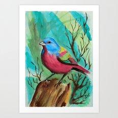 Little Birds 10/30 by Veron Ramsawak Art Print