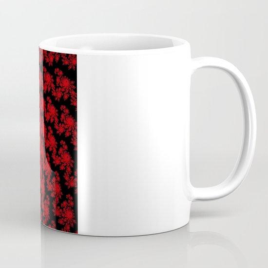 Red Space Spiral Fractal  Mug
