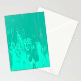 Ocean swirls Stationery Cards