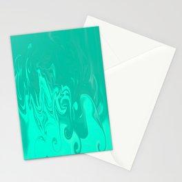 Ocean swirls Stationery Cards