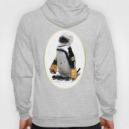 Little Mascot Hockey Player Penguin Hoody