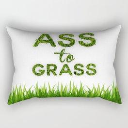 Ass to Grass Rectangular Pillow