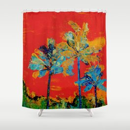 Mary's Palm Trees Shower Curtain