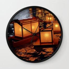 Japanese floating lantern Wall Clock