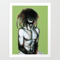 Figure n°3 Art Print