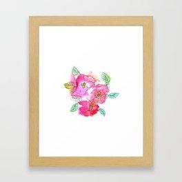 Pink Watercolor Flowers // Floral Feelings Framed Art Print