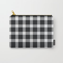 Tattersall Inspired - White/Black Carry-All Pouch