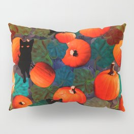 Pumpkins and Black Cats Pillow Sham