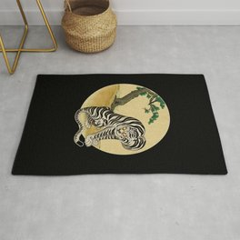 Tiger with magpie type-E : Minhwa-Korean traditional/folk art Rug