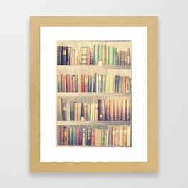 Dream with Books - Love of Reading Bookshelf Collage Framed Art Print